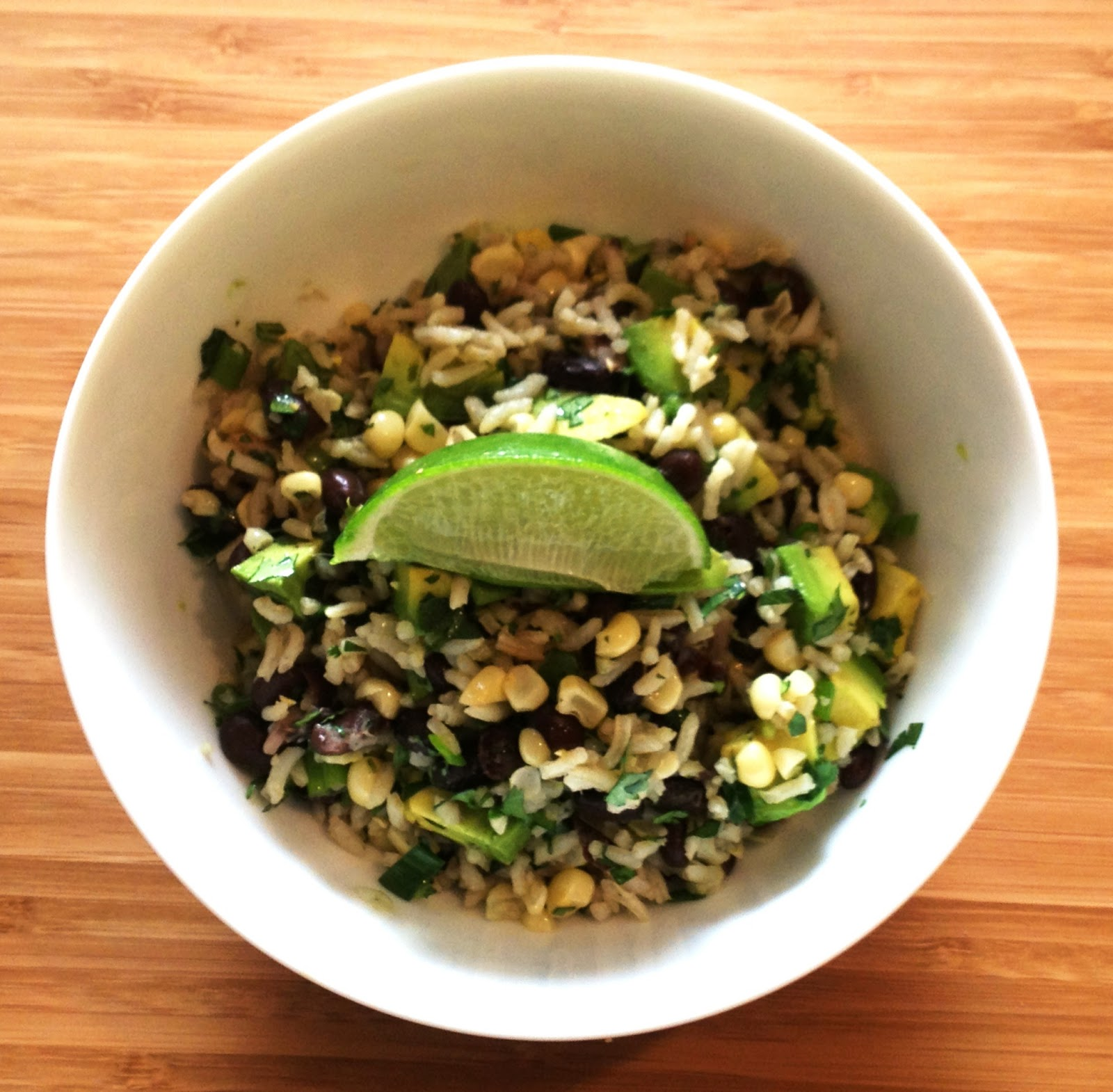 ... Sensitive Epicure: Cilantro Rice with Corn, Black Beans, and Avocados