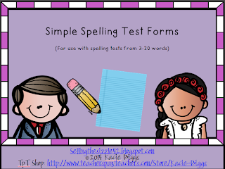 http://www.teacherspayteachers.com/Product/Simple-Spelling-Test-Forms-1041483
