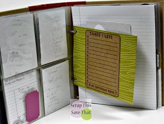 handmade pocket for pocket pages