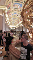 A monster hallway leading to a casino.