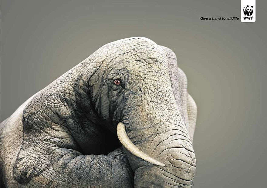 WWF: Give A Hand To Wildlife - 33 Powerful Animal Ad Campaigns That Tell The Uncomfortable Truth