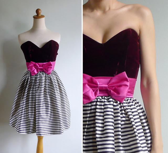 vintage jessica mcclintock bustier prom dress xs
