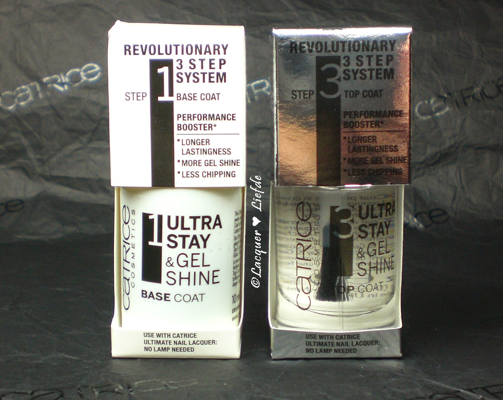 CATRICE – Ultra Stay & Gel Shine 3 Step Nail System