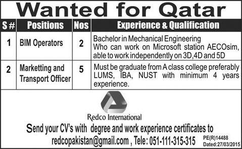 Marketing & Engineering Jobs in Qatar Oversea Jobs