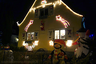 Рождественская иллюминация на доме