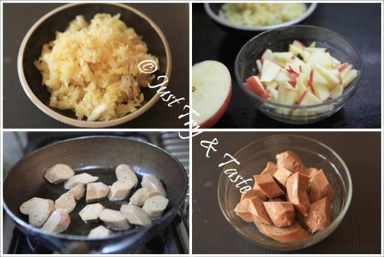 Tumis Sauerkraut dengan Sosis dan Apel JTT