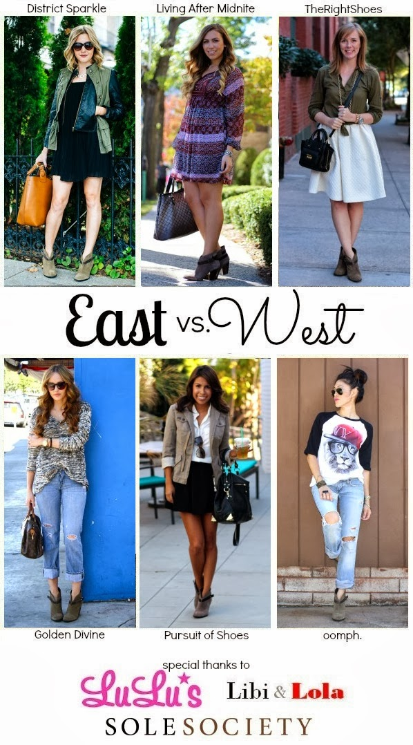 East vs West Blogger Series- Ankle Booties-Sole Society