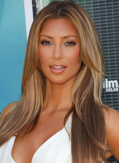 kim kardashian hair highlights