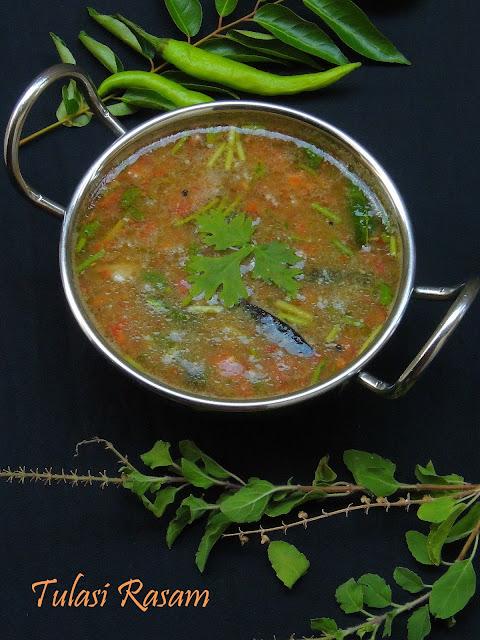Tulasi rasam, Holy basil leaves soup