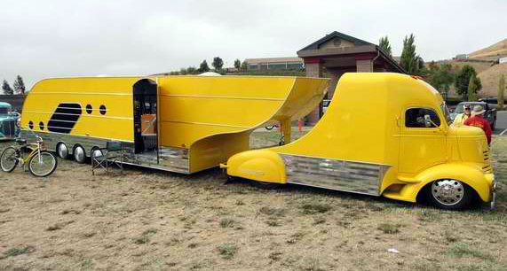 Aerodynamic Tractor Trailer : Wild vehicles from an email gallery that randy sent me