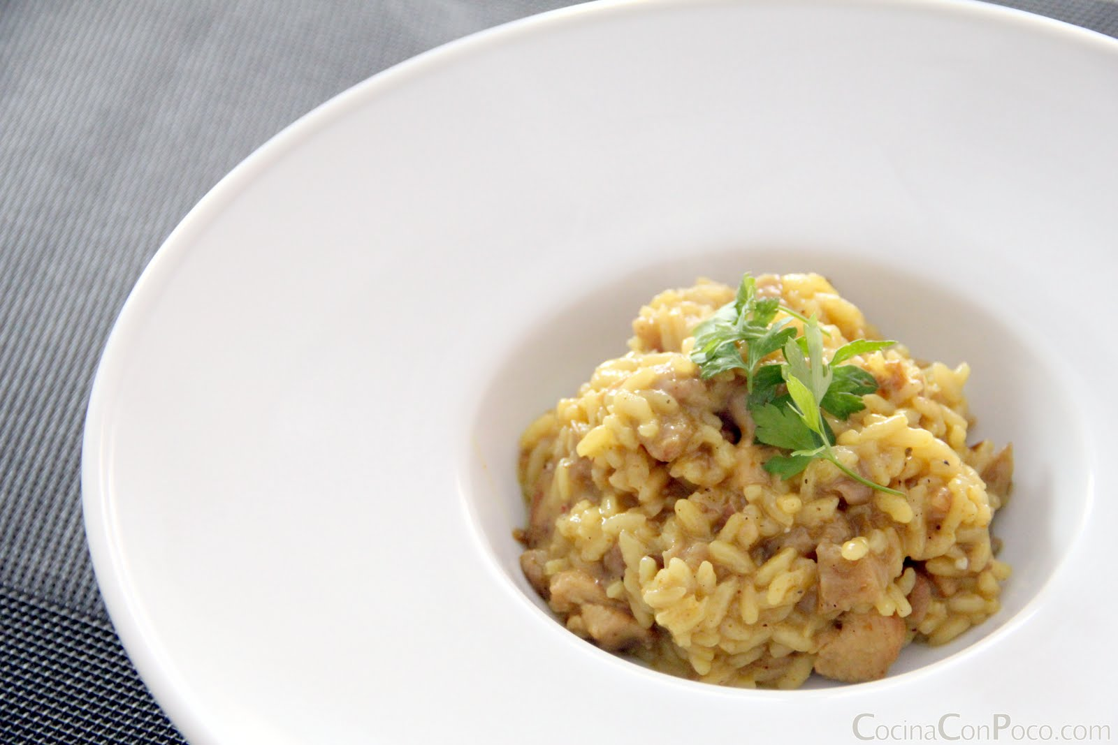 Risotto de setas pavo y curry receta paso a paso for Como cocinar risotto