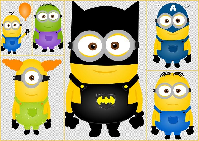 Minions Superheroes Clip Art Oh My Fiesta For Geeks