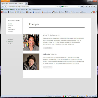 Screen shot of http://www.anderssonwise.com/studio/principals.