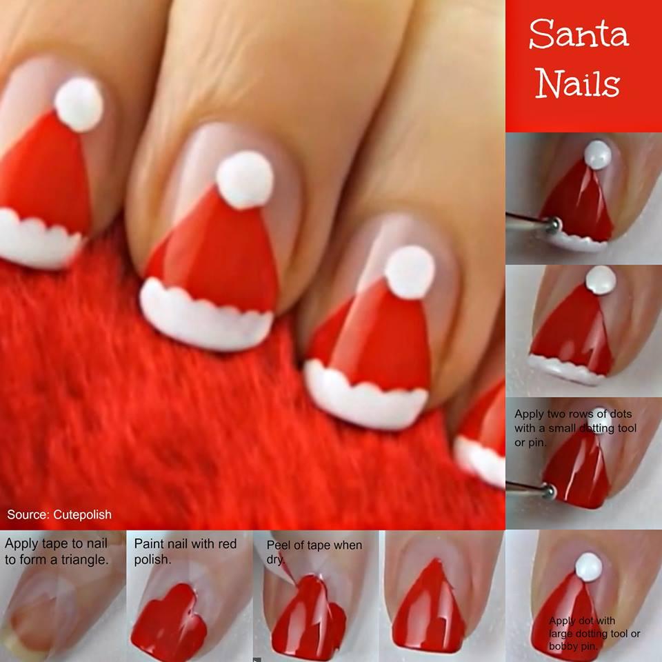 Uñas decoradas paso a paso con motivos navideños. Aqui coloco unas imágenes sacadas de la net con los tutoriales mas fáciles para poder hacer uñas decoradas