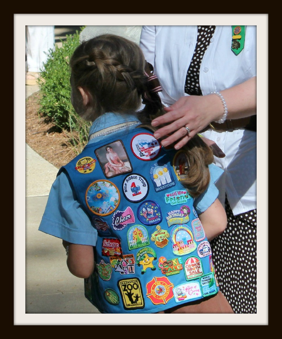 Girl scout scrapbook ideas - The Thought Has Entered My Head That We As Leaders Volunteers And Parents Should Also Be Able To Earn And Display Patches Along With Our Girls