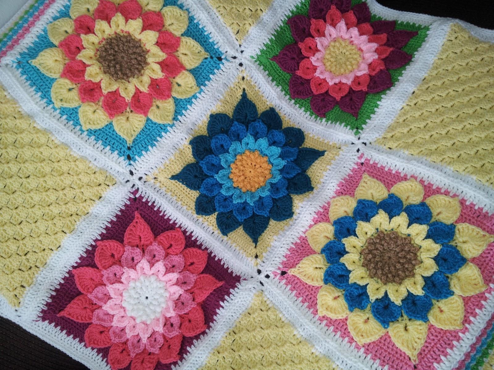 Crochet Hook N Yarn: Pretty Flower ❀❀❀❀ Afghan ❤❤❤❤!