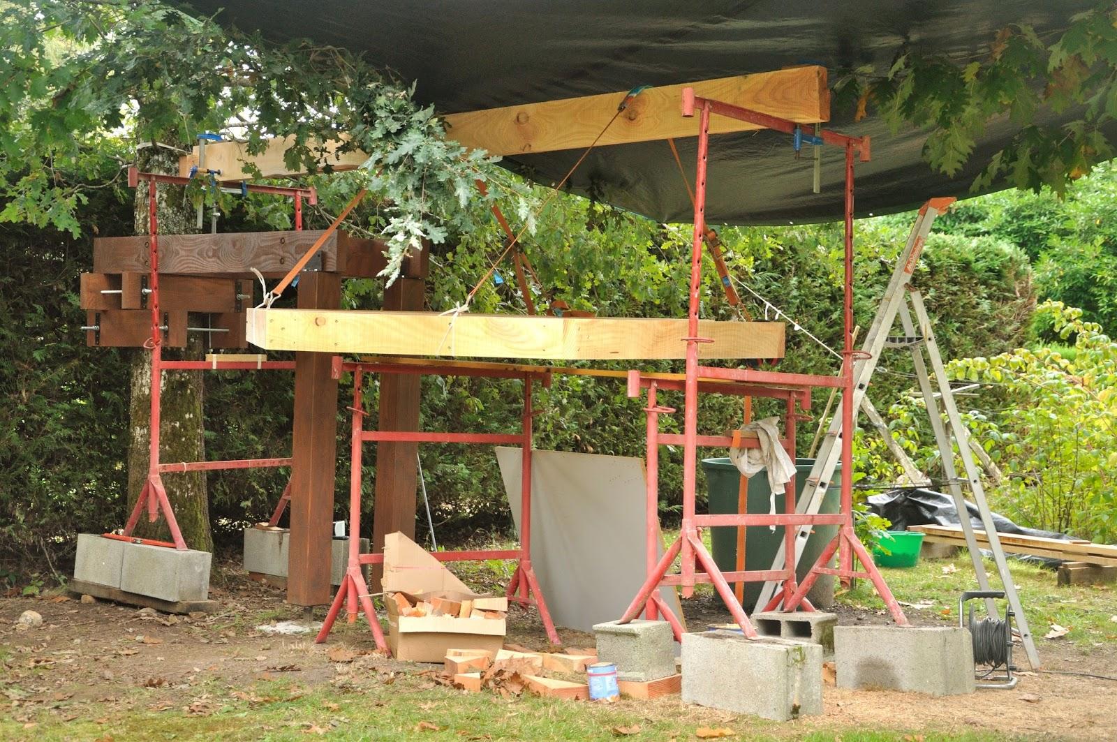 Mise en place de la structure du plancher cabane sketchup - Treteaux de macon ...