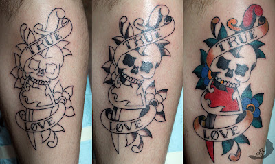 sailor jerry skull and dagger  got to tattoo this