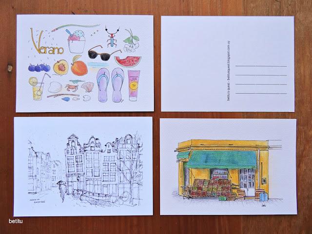 Verano, Amsterdam y Almacén - Postcards by betitu
