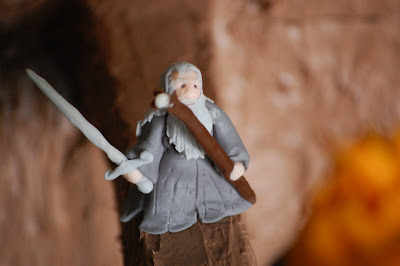 Lord of the Rings Cake - Gandalf Fighting the Balrog - Close-Up of Gandalf 1
