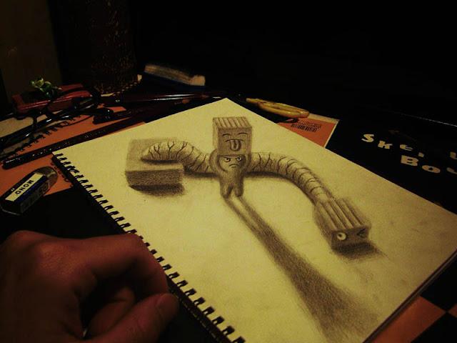 لوحات ثلاثية الأبعاد 3D+Pencil+Drawings+06