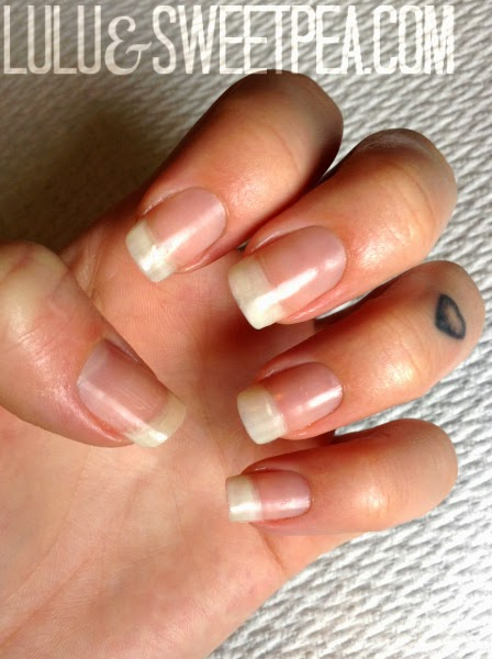 Lulu & Sweet Pea: Easy at-home gel french manicure