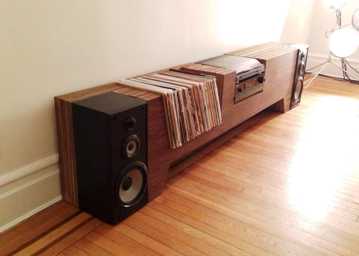 ... Design Studio: [Furniture] Cardboard and Walnut Record Player Console