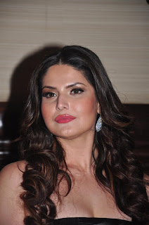 Zarine Khan in Black Gown at Amethyst Bluetooth Speakers Launch Event in Mumbai