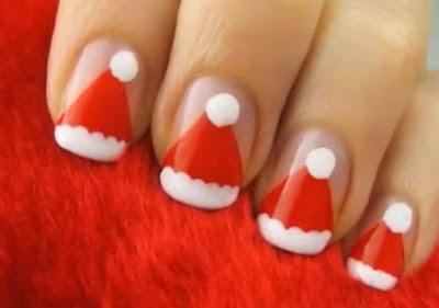 merry christmas nail art