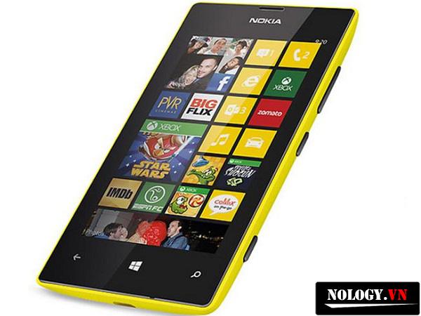 thiết kế của điện thoại nokia lumia 520