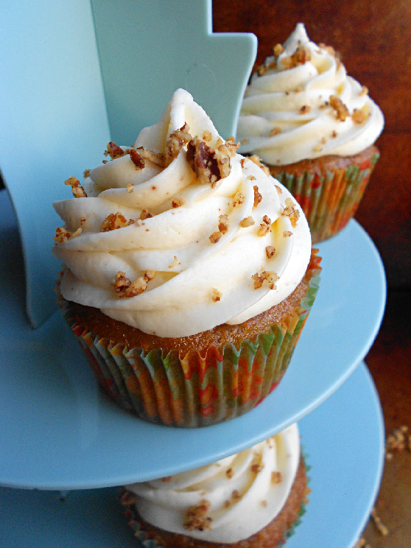 Culinary Couture: Carrot Cake Cupcakes With Browned Butter Cream ...