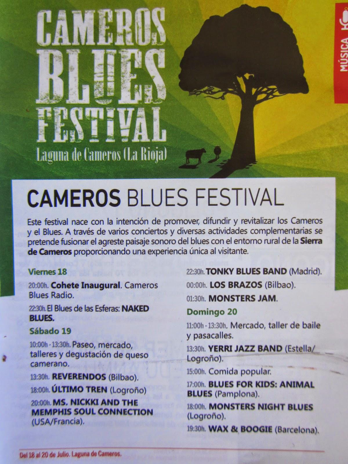 "Programa Guía Go! ""II Cameros Blues Festival"", 2014. Laguna de Cameros"