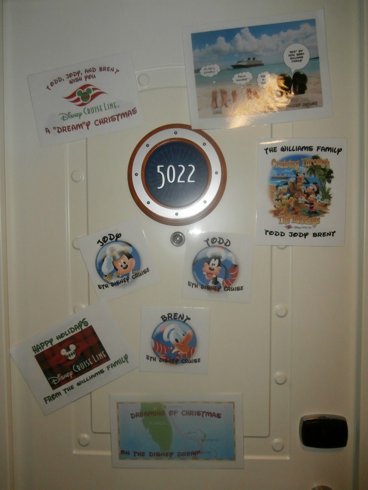Williams Family Decorating Your Stateroom Door