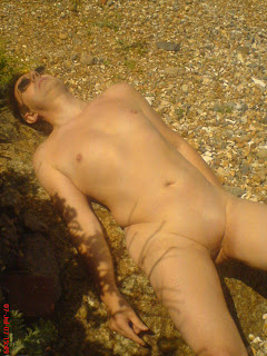 naturist, nudist, nudist beach, Shoreham Beach, naked man, naked boy