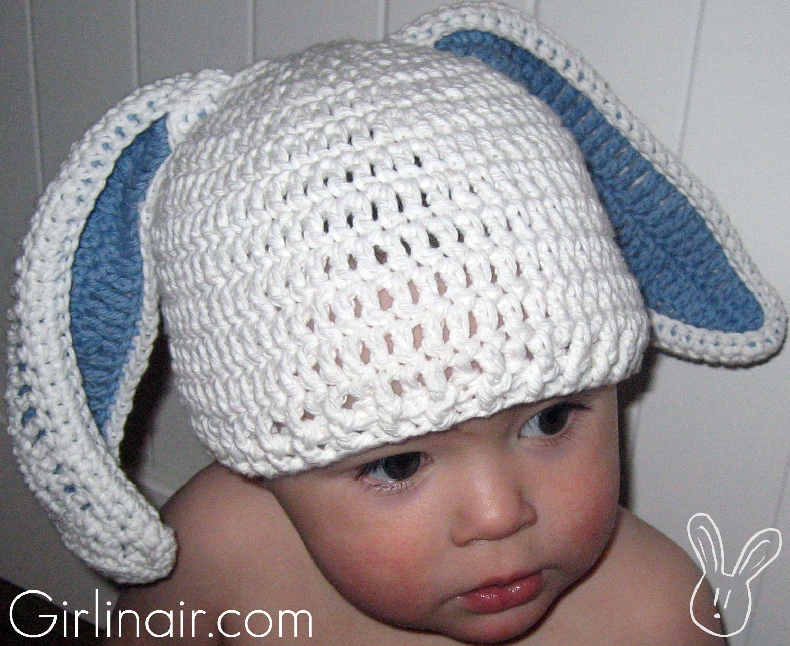 Girl in air blog floppy bunny hat pattern dt1010fo
