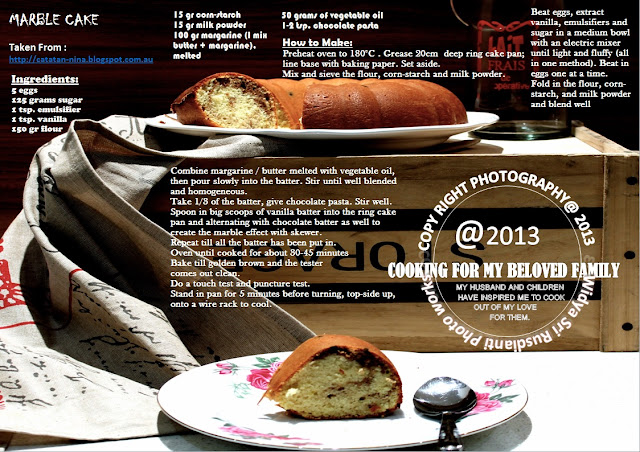 Resep Marble Cake Blue Band