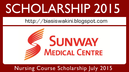 Sunway Medical Centre Scholarship 2015 (Nursing Course)