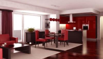 Decoraciones y modernidades color rojo en modernos interiores for Colores para interiores de casa modernos