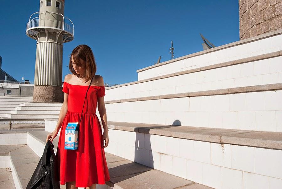 Vestit vermell Asos Elle et ses rêves