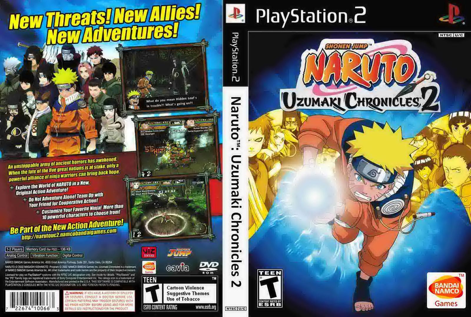 Ultra capas naruto uzumaki chronicles 2 playstation 2