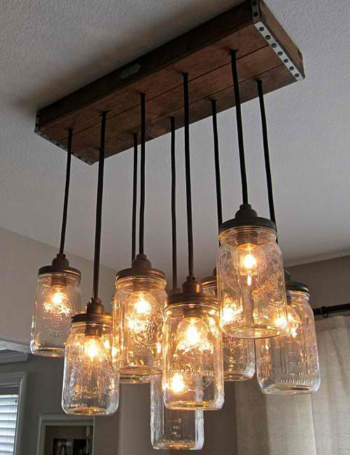 34 FABULOUS MASON JAR LIGHTS Interior Design