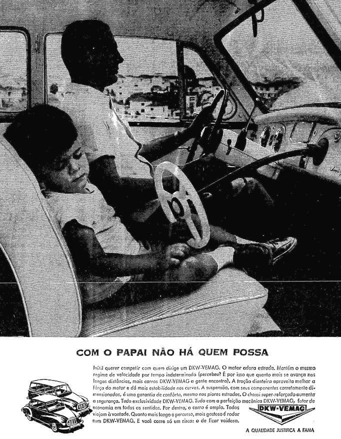 Propaganda do DKW-Vemag (criança no banco da frente) - 1964