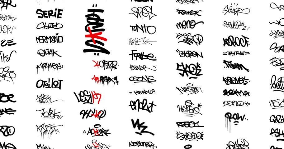 Graffiti Schrift Mit Dem Schriftart Fontpark Net Picture