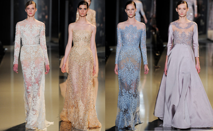 bridal evening gowns by Elie Saab