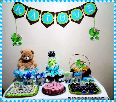 convite modelo fralda decoração cha de bebe menino ideias kit para imprimir