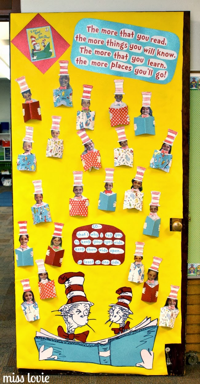 Miss lovie dr seuss door decoration i can read with my for I can bulletin board ideas