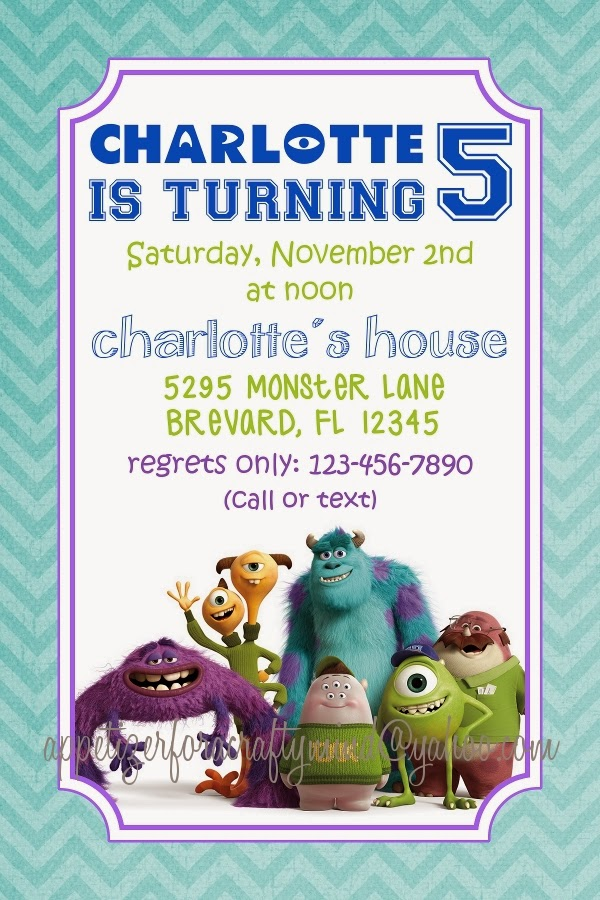 Appetizer for a Crafty Mind: Monsters University Birthday Party
