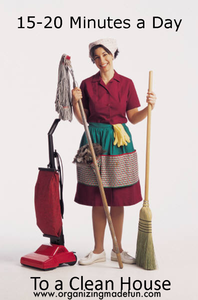 15-20 Minutes a Day Cleaning :: OrganizingMadeFun.com