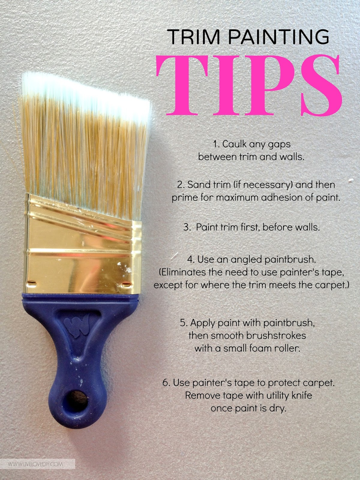 Best Caulk For Trim Livelovediy How To Paint Trim