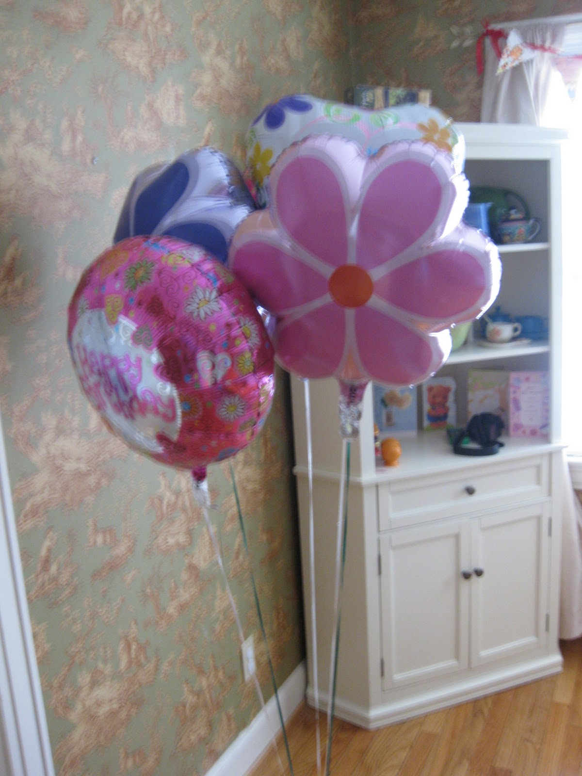 We Also Got Some Helium Balloons As A Little Present To E These Were From Dollar Tree So They Each